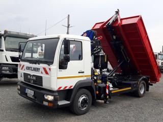 MAN 12.180 RUKA + KONTEJNER  6T pro přepravu kontejnerů