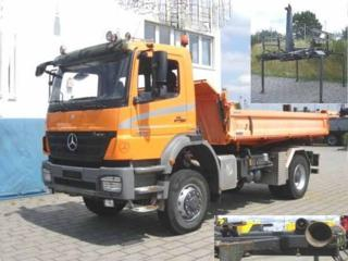Mercedes-Benz 1829  4x4 JNK/sklápěč  EURO 4 pro přepravu kontejnerů