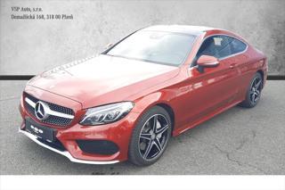 Mercedes-Benz Třídy C 2,0 250 AMG line, ČR, LED kupé benzin