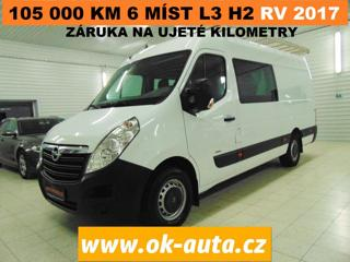 Opel Movano 2.3 CDTi L3H2 6 MÍST PRAV.SER.