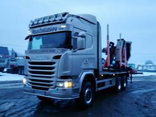 Scania G 490 6x6 lesovůz +HR EURO 6 pro přepravu dřeva