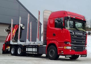 Scania R520 V8 - 6x4 - lesovůz EURO 6 pro přepravu dřeva