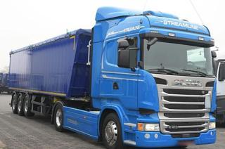 Scania R410 hydraulika + návěs EURO 6 tahač