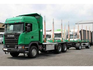 Scania G490 6x4, lesosouprava pro přepravu dřeva