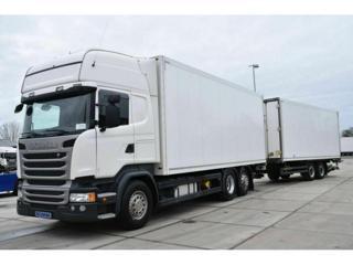 Scania R410 TL 6x2 souprava skříň