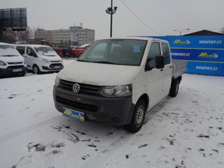 Volkswagen Transporter 2.0TDI DVOJKABINA VALNÍK KLIMA SERV valník